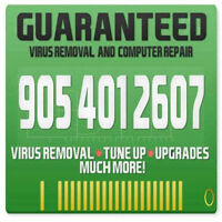 Guaranteed Computer Virus Removal and Repairs  Services @ $15