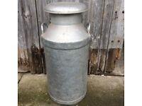 Aluminum milk churn