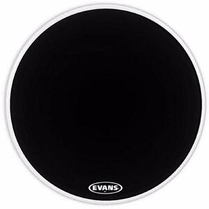 Evans MX1 Black Marching Bass Drum Head, 20 Inch