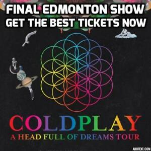JUST RELEASED★★ COLDPLAY ★★Rogers Place, WED Sep 27 7:00PM