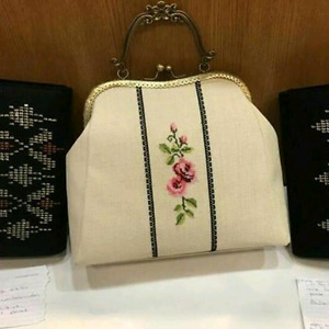 Handmade Cross Stitch Purse