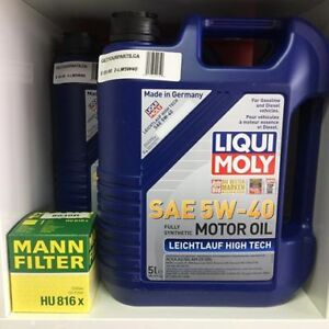 5 LITRE JUG OF LIQUI MOLY 5W40 FULLY SYNTHETIC