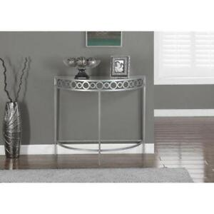 SILVER METAL 36???L HALL CONSOLE ACCENT TABLE- UNBEATABLE PRICES