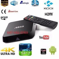 ★M8S ANDROID BOX★ FASTEST & SMOOTHEST★ WATCH TV FOR FREE★