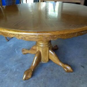 Solid Real White Oak Wood Dinning Room Table with 4 X Chairs