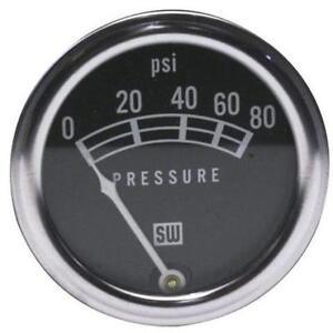 Stewart Warner 82208 Std 2-1/16 In. Oil Pressure Gauge, Mech, 0-