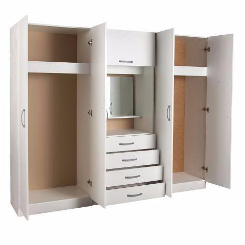 100 Guaranteed Price Bella Bedroom Fitment 4 Doors Wardrobe With Mirror Dresser Now On