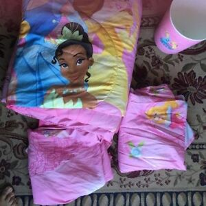 Complete Princess twin bed set. AVAILABLE