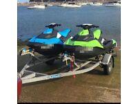 Double jetski trailer seadoo spark yamaha galvanised roller