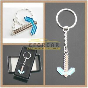 Minecraft keychain in box
