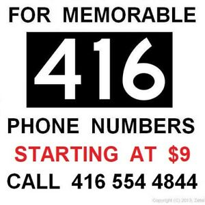 416 Area-Code Phone Numbers - Easy Vanity VIP Premium # for Sale