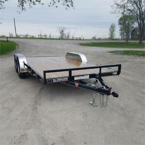 2019 PJ Trailers 7' X 16' Carhauler w/ Slide-in Ramps