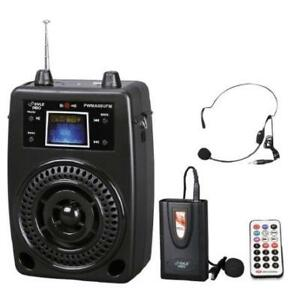 PylePro 100 Watts Portable PA System With Included Wireless Lava