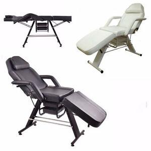 Salon SPA Black Massage Bed Tattoo Chair Facial Adjustable Table