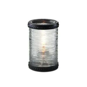 Clear Twister Texture Glass Liquid Candle Holder w Bronze Accent *RESTAURANT EQUIPMENT PARTS SMALLWARES HOODS AND MORE*