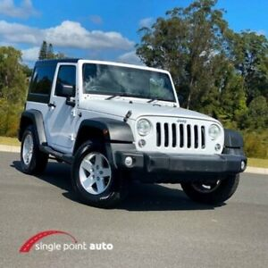 2015 Jeep Wrangler JK MY2015 Sport White 5 Speed Automatic Softtop Chevallum Maroochydore Area Preview