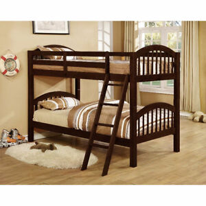 BRAND NEW !! TWIN OVER TWIN SOLID PINEWOODS MADE BUNK BED