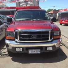 2001 Ford F250 RM XLT Red 4 Speed Automatic Utility Braddon North Canberra Preview