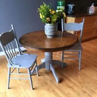 RUSTIC shabby chic kitchen oak table