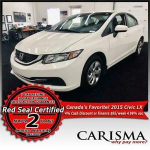 '15 Honda Civic LX Auto~A/C~Backup Cam~Heated Seats~Bluetooth