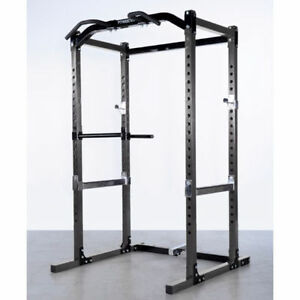 Powertec Power Rack/Cage - Safety Spotter, Chin Up, Dips Attachm