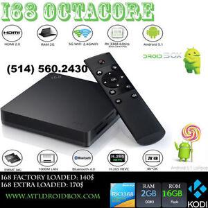 i68 OctaCore 8 Coeurs Android TV Box 5.1 4K 64bit 2GB RAM 16GB