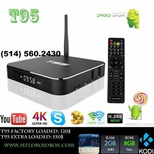 T95 2GB RAM Android TV Box S905 64 BITS Quad Core 8GB ROM KODI