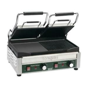 "Waring WDG300T 9 1/4""x17"" Panini Sandwich Grill with Two Groove .*RESTAURANT EQUIPMENT PARTS SMALLWARES HOODS AND MORE*"