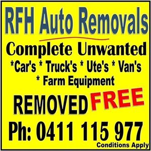 FREE REMOVAL OF COMPLETE SCRAP CARS etc Campbelltown to Goulburn. Bargo Wollondilly Area Preview