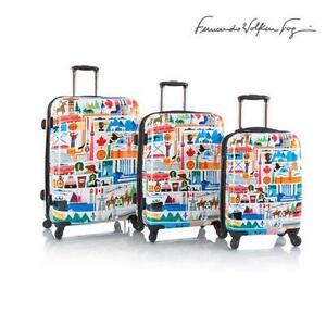 """Fernando by Heys Oh Canada Love Spinner 3 piece Luggage Set (21"""""""