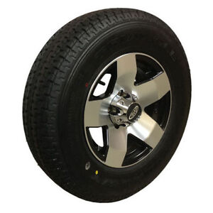 ST225 75 R15 - TRAILER TIRE on ALUMINUM RIM - $199 - CLENTEC