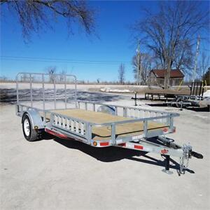 2018 ED Trailers 7' X 14' Galvanized Utility w/ ATV Ramps