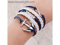 Leather Multilayer Charm Bracelet