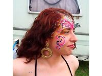 GREAT VALUE FACEPAINTING...FACE PAINTER & HEAD DRESS HIRE SERVICE...KID ADULT PARTIES AND FESTIVALS