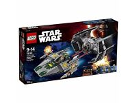 LEGO Star Wars 75150 Vaders Tie Advanced vs A wing starfighter Brand New