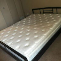 Queen Size Mattress in Great Condition with Bed Frame