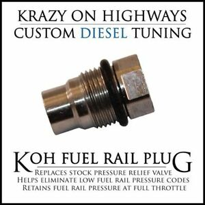 KOH Fuel Rail Plug for Dodge, GM and Chevy Diesel Pickups