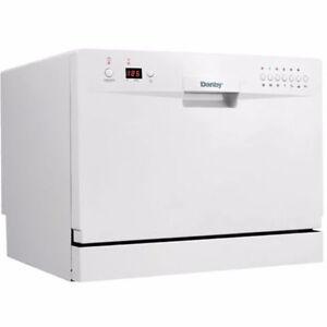 Danby 24-inch Countertop Dishwasher in White - Like new!