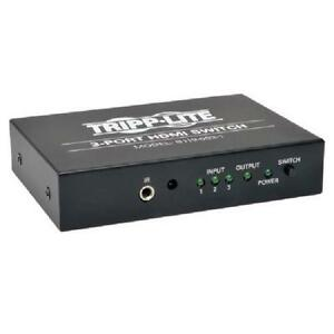 Tripp Lite 3-Port HDMI Switch for Video and Audio, Includes Remo