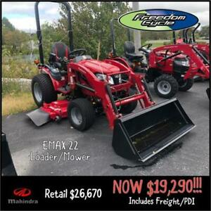 MAHINDRA eMAX 22L HST TRACTOR - SAVE $7400!!!