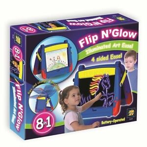 NEW: Flip N Glow Illuminated 8 in 1 Art Easel