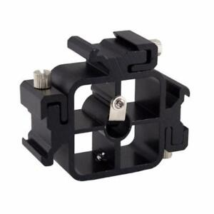 3in1 Metal Tri-Hot Shoe Mount Adapter Light Stand Flash H