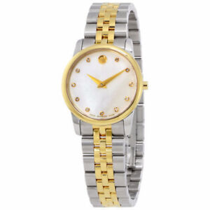 NEW- Ladies' Movado Diamond Museum Classic Two-Tone Watch - Gold