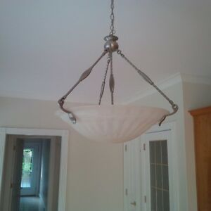 Chandelier and ceiling light