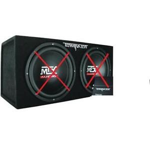 MTX 12'' Sealed Dual Subwoofer Enclosure