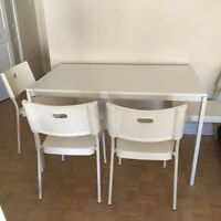 Ikea Dinning Tables white color with comfortable chairs