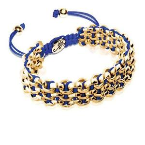50% OFF All Jewellery - Gold Kismet Links   Royal BlueBracelet