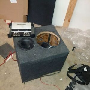 """HIGH END PORTED MDF 1"""" BOX FOR W7 SUB AND CAPACITOR"""