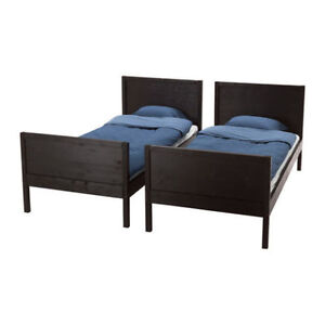 MOVING - real wood IKEA bunk bed painted in white