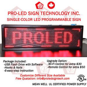 Customize LED Programmable Signs-UL Certified-FREE SHIPPING